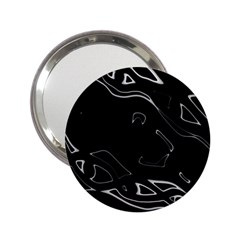 Black and white 2.25  Handbag Mirrors