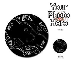Black and white Playing Cards 54 (Round)