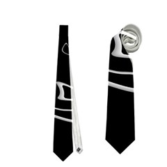 Black and white Neckties (Two Side)