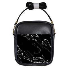 Black and white Girls Sling Bags