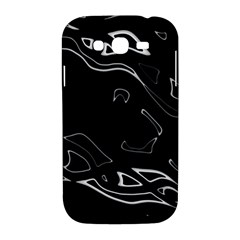 Black and white Samsung Galaxy Grand DUOS I9082 Hardshell Case