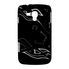 Black and white Samsung Galaxy Duos I8262 Hardshell Case