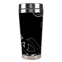 Black and white Stainless Steel Travel Tumblers