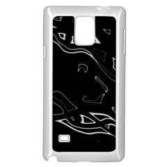 Black and white Samsung Galaxy Note 4 Case (White)