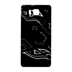 Black and white Samsung Galaxy Alpha Hardshell Back Case