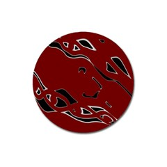 Decorative abstract art Magnet 3  (Round)