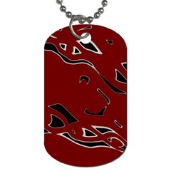Decorative abstract art Dog Tag (One Side)