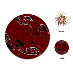 Decorative abstract art Playing Cards (Round)