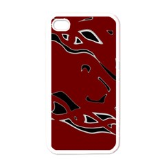 Decorative abstract art Apple iPhone 4 Case (White)
