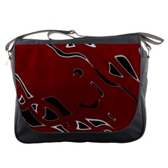 Decorative abstract art Messenger Bags
