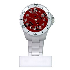 Decorative abstract art Plastic Nurses Watch