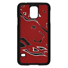 Decorative abstract art Samsung Galaxy S5 Case (Black)