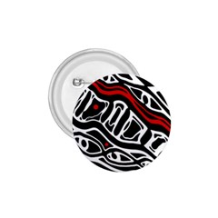 Red, black and white abstract art 1.75  Buttons