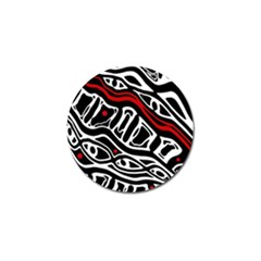 Red, black and white abstract art Golf Ball Marker (10 pack)