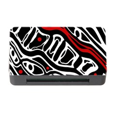 Red, black and white abstract art Memory Card Reader with CF