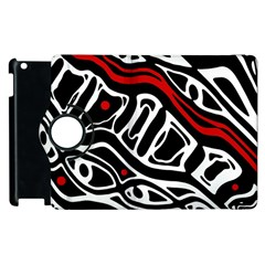 Red, black and white abstract art Apple iPad 3/4 Flip 360 Case
