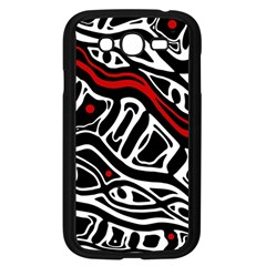 Red, black and white abstract art Samsung Galaxy Grand DUOS I9082 Case (Black)