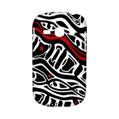 Red, black and white abstract art Samsung Galaxy S6810 Hardshell Case