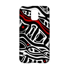 Red, black and white abstract art Samsung Galaxy S5 Hardshell Case