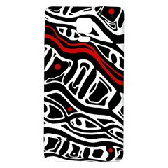 Red, black and white abstract art Galaxy Note 4 Back Case