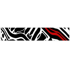 Red, black and white abstract art Flano Scarf (Large)