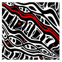 Red, black and white abstract art Large Satin Scarf (Square)
