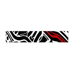 Red, black and white abstract art Flano Scarf (Mini)