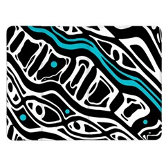 Blue, black and white abstract art Kindle Fire (1st Gen) Flip Case