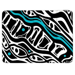 Blue, black and white abstract art Samsung Galaxy Tab 7  P1000 Flip Case