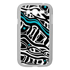 Blue, black and white abstract art Samsung Galaxy Grand DUOS I9082 Case (White)