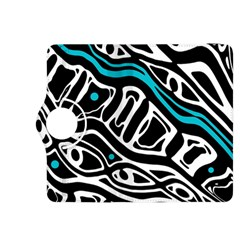 Blue, black and white abstract art Kindle Fire HDX 8.9  Flip 360 Case