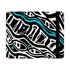 Blue, black and white abstract art Samsung Galaxy Tab Pro 8.4  Flip Case