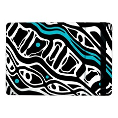 Blue, black and white abstract art Samsung Galaxy Tab Pro 10.1  Flip Case