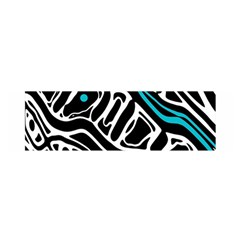 Blue, black and white abstract art Satin Scarf (Oblong)