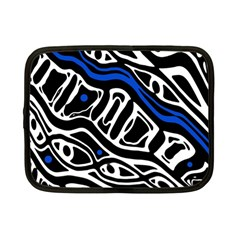 Deep blue, black and white abstract art Netbook Case (Small)