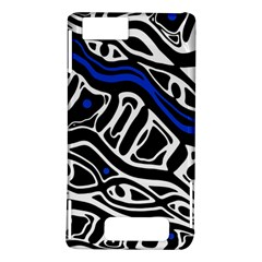 Deep blue, black and white abstract art Motorola DROID X2