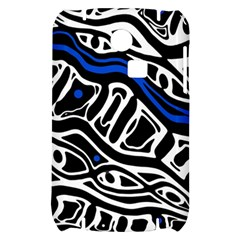 Deep blue, black and white abstract art Samsung S3350 Hardshell Case