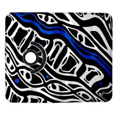 Deep blue, black and white abstract art Samsung Galaxy Note II Flip 360 Case
