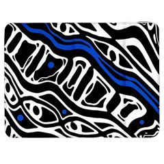 Deep blue, black and white abstract art Samsung Galaxy Tab 7  P1000 Flip Case