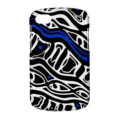 Deep blue, black and white abstract art BlackBerry Q10