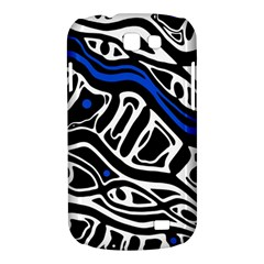 Deep blue, black and white abstract art Samsung Galaxy Express I8730 Hardshell Case