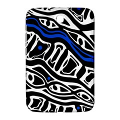 Deep blue, black and white abstract art Samsung Galaxy Note 8.0 N5100 Hardshell Case