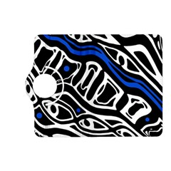 Deep blue, black and white abstract art Kindle Fire HD (2013) Flip 360 Case