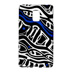 Deep blue, black and white abstract art Galaxy Note Edge