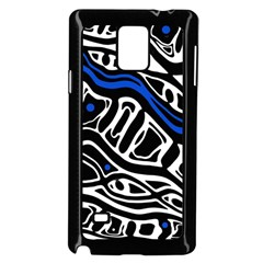 Deep blue, black and white abstract art Samsung Galaxy Note 4 Case (Black)