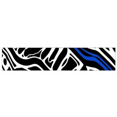 Deep blue, black and white abstract art Flano Scarf (Small)