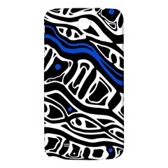 Deep blue, black and white abstract art Samsung Galaxy Mega I9200 Hardshell Back Case