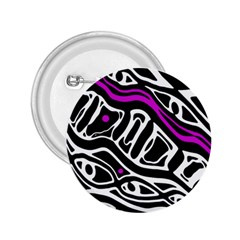 Purple, black and white abstract art 2.25  Buttons