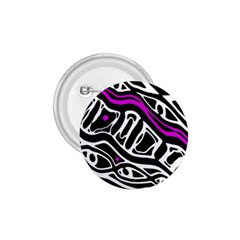 Purple, black and white abstract art 1.75  Buttons
