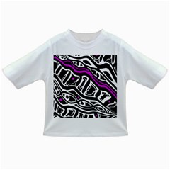 Purple, black and white abstract art Infant/Toddler T-Shirts